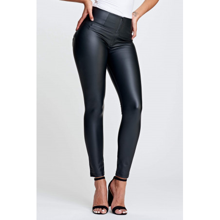 WR.UP® Ecoleather - High Waist Skinny - N0 - Black